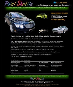Paint Shuttle - Broward Mobile Minor Auto Body Repairs