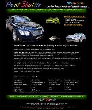 Paint Shuttle - Broward Mobile Minor Auto Body Repairs
