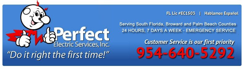 PerfectElectric Commercial Electrician  Electrical Contractor Services   South Florida