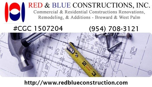 Red Blue 2 Commercial Construction  Remodeling   Palm Beach and Broward