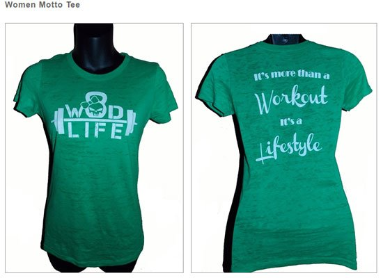 Womens T WOD LIFE   CrossFit Apparel