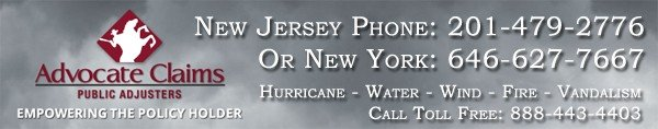 Advocate Claims - Licensed New Jersey Public Adjuster for your Hurricane Damage