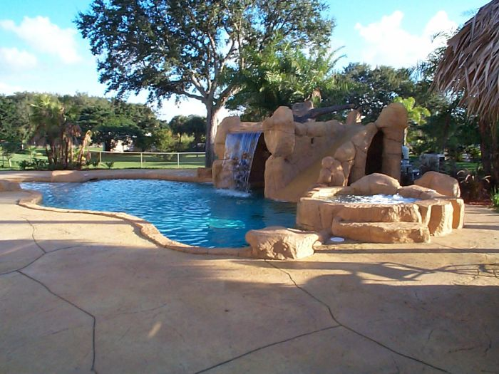 sammet pools designs constructs caves for swimming pool areas - Swimming Pools With Grottos