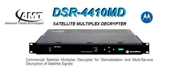 Motorola DSR-4410MD Satellite Multiplex Decrypter from AMT