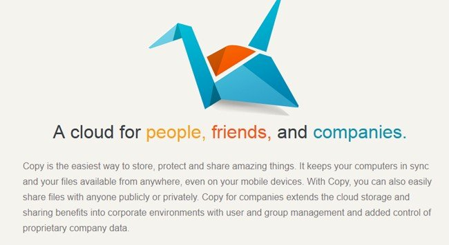 Copy.com  Looking to share large files  need a Dropbox Alternative? Check out Copy.com