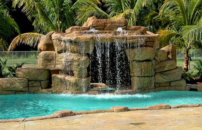 Custom Waterfalls, Lagoons and Caves - Palm Beach Pool Builder Sammet pools