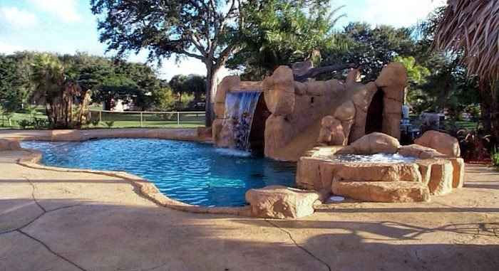 waterfalls 3 Palm Beach Pool Builder  Designer   Sammet Pools Inc