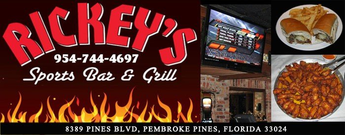 Rickey's Sports Bar & Grill in Pembroek Pines, Florida