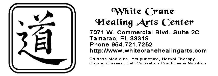 White Crane Healing Art of Broward providing Chinese Medicine, Acupuncture, Herbal Therapy, Qigong Classes, Self Cultivation Practices Nutritional Guidance
