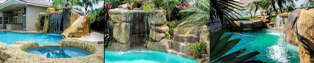 Sammet Pools Create backyard Waterfalls in south Florida, Boca Raton, Ft Lauderdale and West Palm Beach