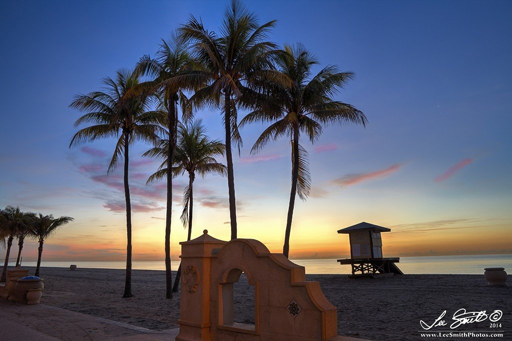 IMG 8978 79 80 tonemapped Enjoy a Sunrise along the Hollywood Beach Walkway