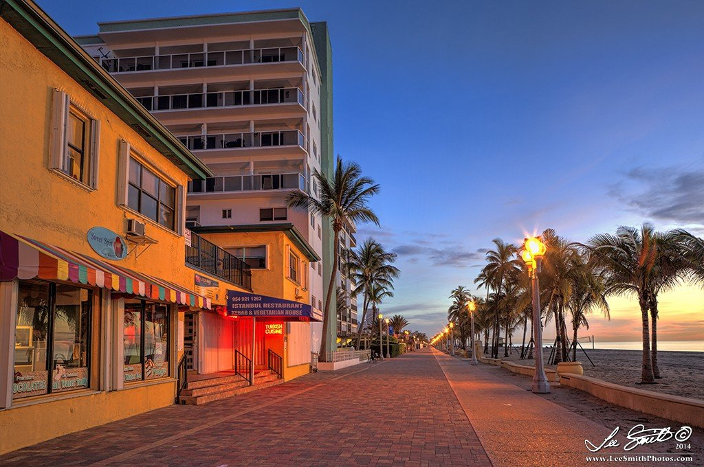 The Colorful Walkway of Hollywood Beach