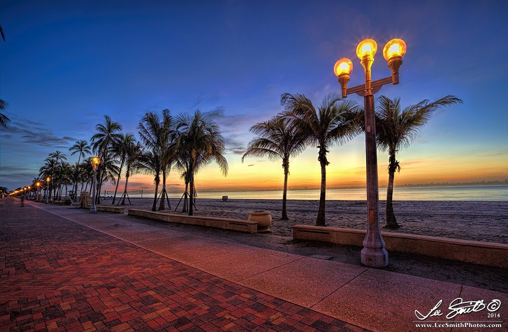 IMG 8984 5 6 tonemapped Enjoy a Sunrise along the Hollywood Beach Walkway