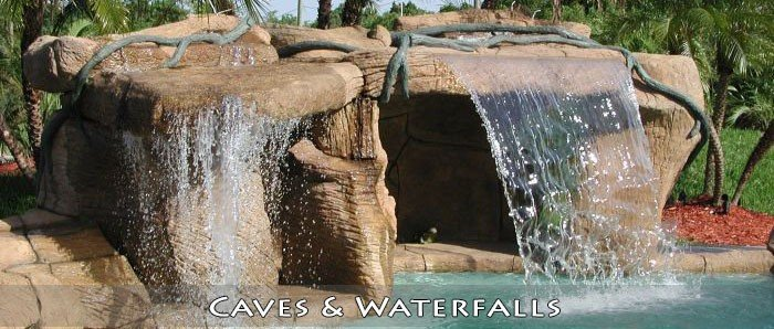 Broward Pool Contractor for custom caves and waterfalls