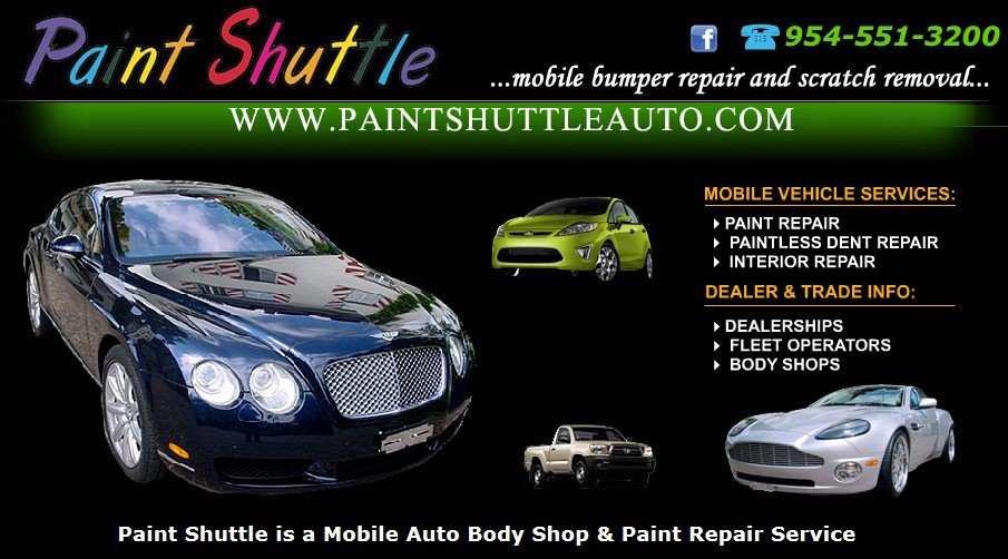 Paint Shuttle is Broward's Best Mobile Auto Body Shop & Paint Repair Service