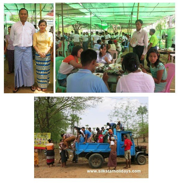 Local people in Bagan come for annual offer food