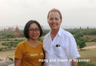 Hang and Glenn in Myanmar
