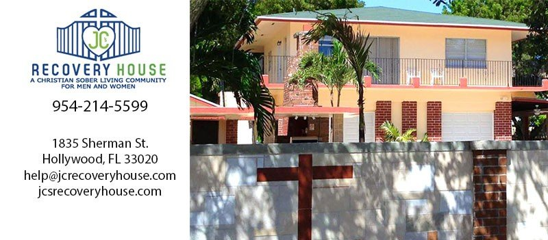 JC's Recovery House provides a proven long-term solution for people who have been suffering from alcohol and drug addictions. We offer a highly-structured Christian centered program seeking to achieve permanent sobriety and recovery. - 954-214-5599 - jcsrecoveryhouse.com