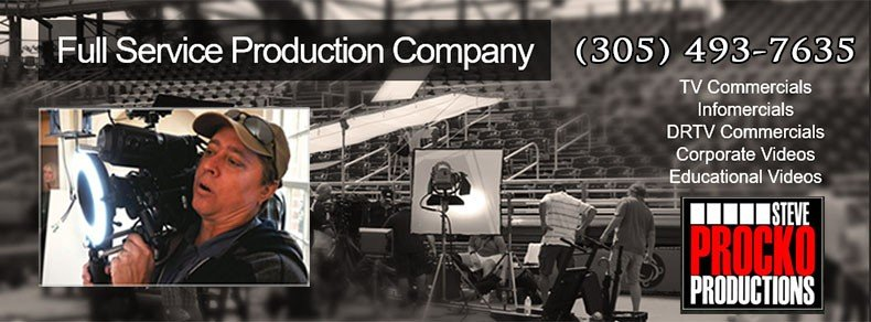 Steve Procko Productions (SPP) is a Florida based, Full Service Film Production Company & High-Def Video Florida Production Company providing Television Commercial Production, Infomercials, Direct-Response Commercials, Corporate Videos and Educational Videos