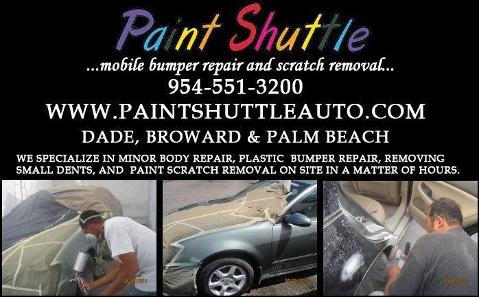Mobile Auto Body Shop Paint Repair Service South Florida