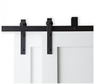 The Bypass Barn Door Hardware is the perfect solution to installations that have limited space available to hang the track.