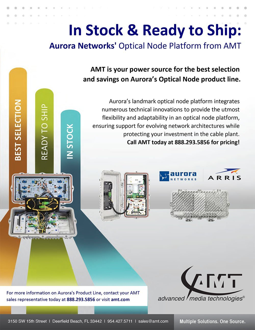 Aurora Networks' Optical Node Platform from AMT