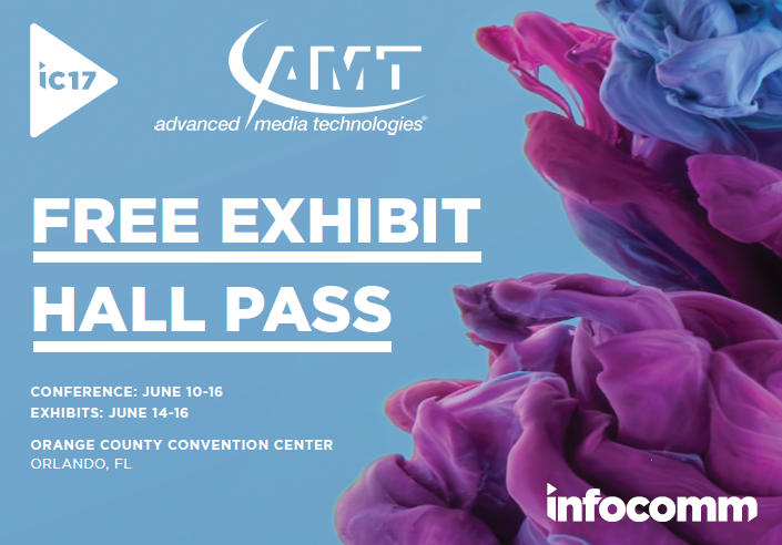 Visit AMT at the InfoComm Show, Booth # 2423.
