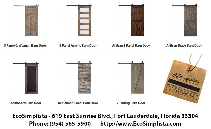 Barn Doors and Barn Door Hardware by Ecosimplista in Broward, Florida