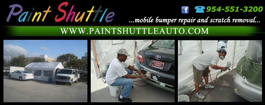 Paint Shuttle is a Mobile Auto Body Shop & Paint Repair Service - 954-551-320