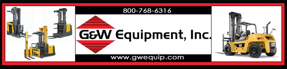 G&W Equipment, Inc., is a locally owned and operated lift truck & material handling company in North Carolina, South Carolina and Georgia. G&W Equipment is an authorized dealer for Cat Lift Trucks, Mitsubishi Forklifts and Jungheinrich forklifts