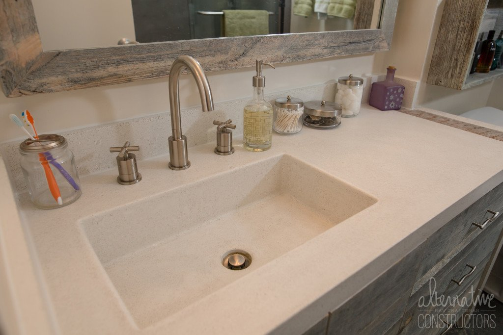 EcoSimplista - Alternative Constructors concrete countertops are 100% custom, made-to-order countertops.