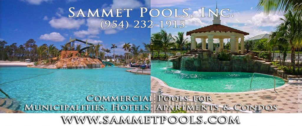 Commercial Pool Builder for Municipalities, Hotels, Apartments & Condos by Sammet Pools in Broward County Florida